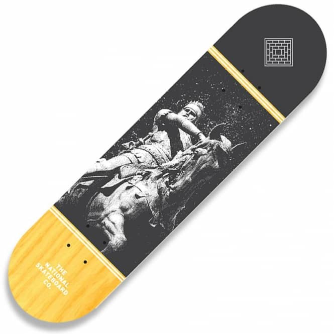 The National Skateboard Co. Black Prince Yellow Stain Skateboard Deck 8.5