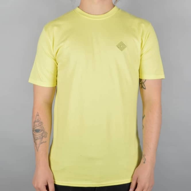 The National Skateboard Co. Embroidered Skate T-Shirt - Yellow