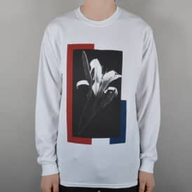The National Skateboard Co. Flower Longsleeve T-Shirt - White