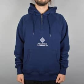 The National Skateboard Co. Half Zip Hoodie - Navy