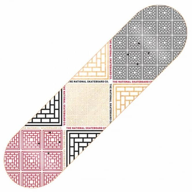 The National Skateboard Co. Labyrinth D Skateboard Deck 8.5''