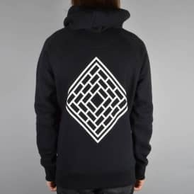 The National Skateboard Co. Mono Logo Pullover Hood - Black