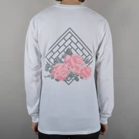 The National Skateboard Co. Rose Longsleeve T-Shirt - White