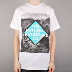 The National Skateboard Co. Croc T-Shirt - White