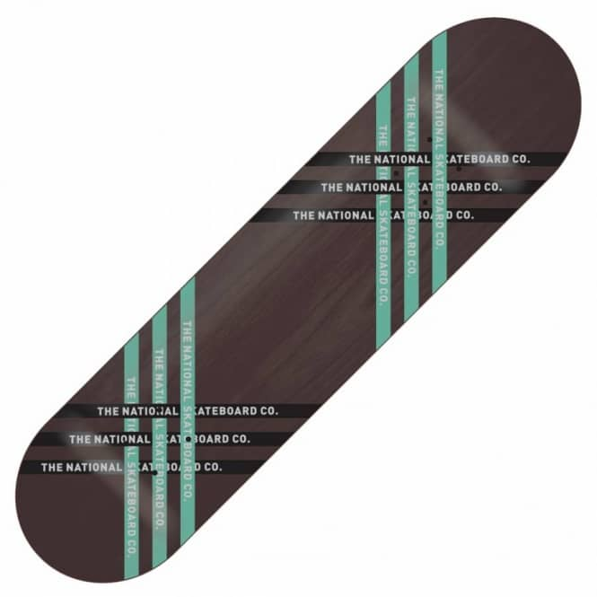 The National Skateboard Co. The National Skateboard Co. Fast Black Skateboard Deck 8.5''