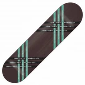 The National Skateboard Co. Fast Black Skateboard Deck 8.5''