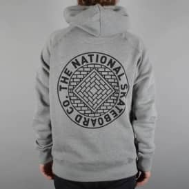 The National Skateboard Co. Union Pullover Hoodie - Grey/Black