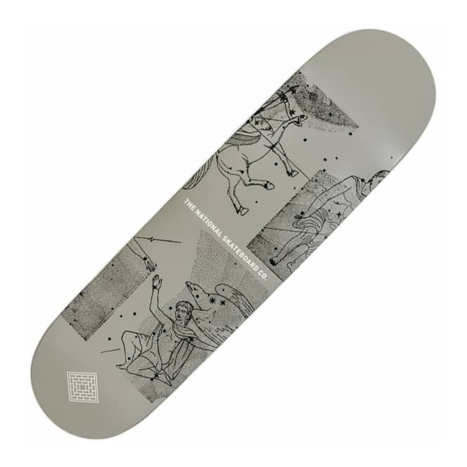 The National Skateboard Co. Universe Grey Skateboard Deck 8.25