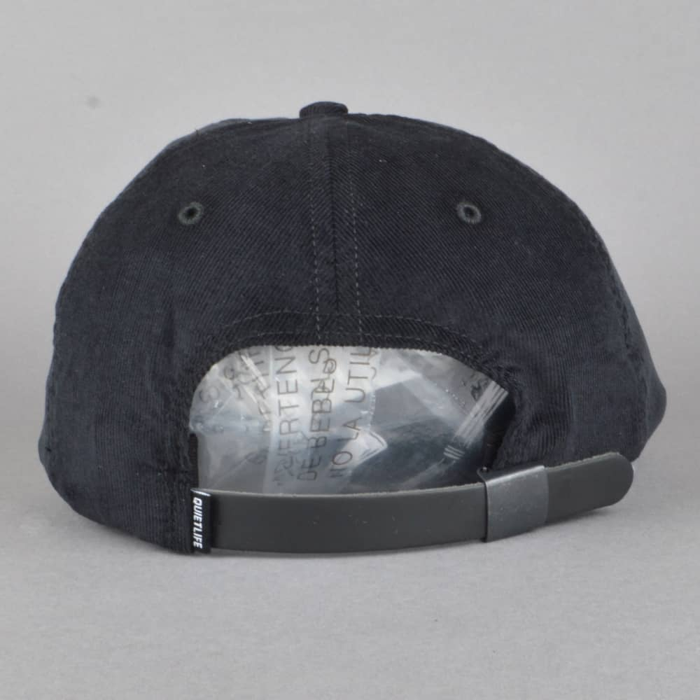 fd089ee0ab0 The Quiet Life Bolt Cord Polo Cap - Black - SKATE CLOTHING from ...