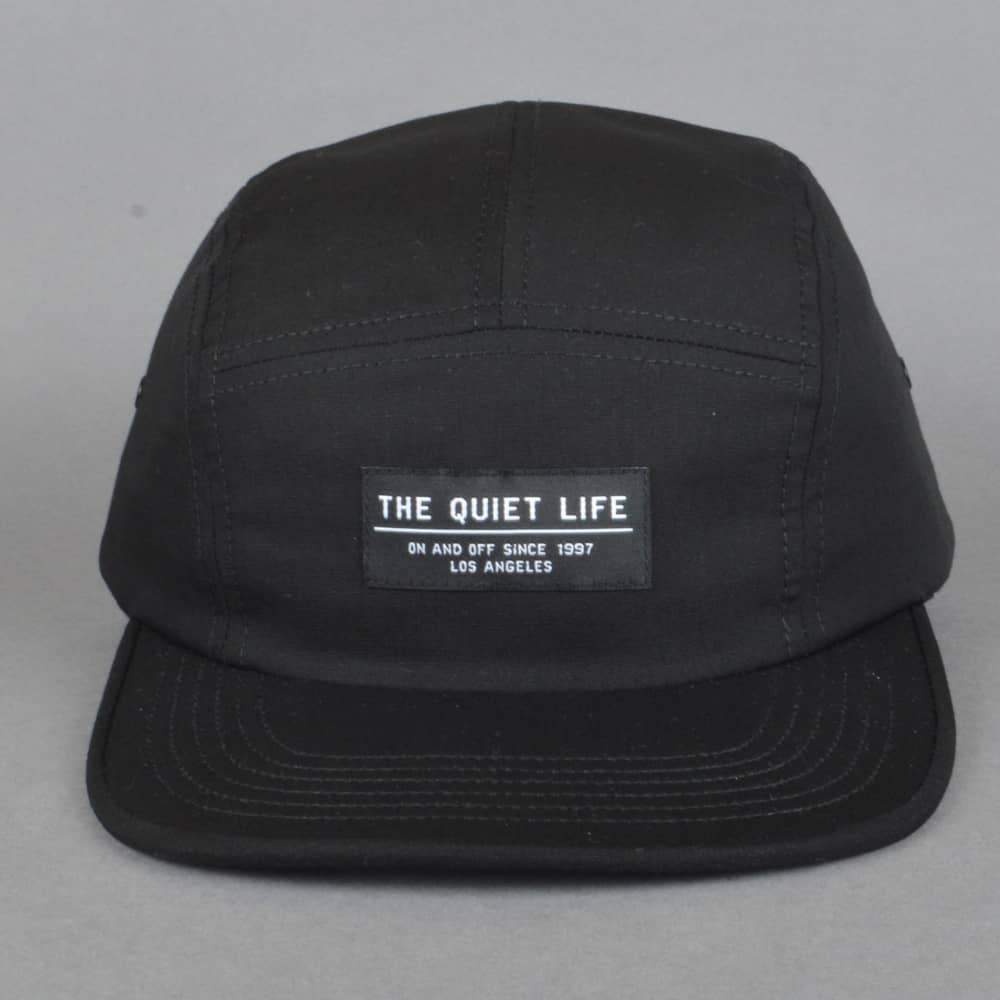 ba2754cff9d69 The Quiet Life Foundation 5 Panel Cap - Black - SKATE CLOTHING from ...