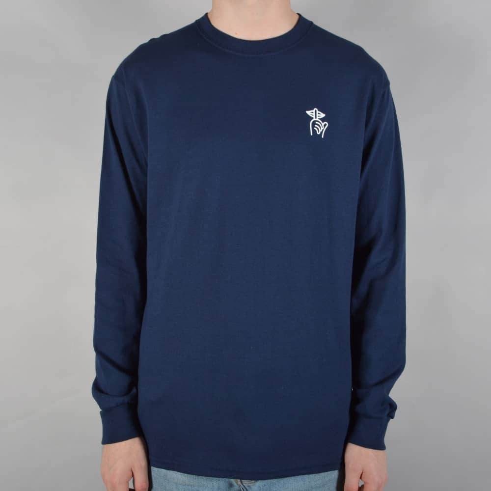b0451ece9f5 The Quiet Life Shhh Wavey Longsleeve T-Shirt - Navy - SKATE CLOTHING ...