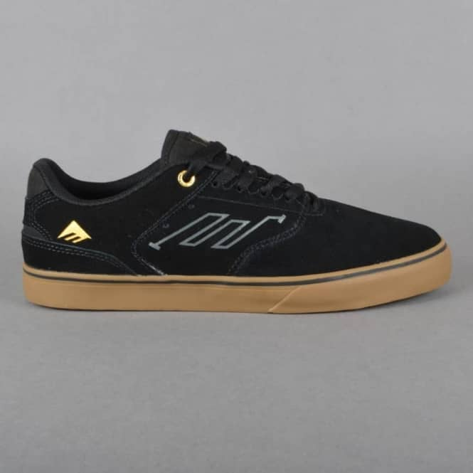 emerica the low vulc skate shoes black gum