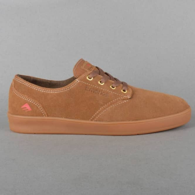 Emerica The Romero Laced Skate Shoes - Brown/Brown/Gum