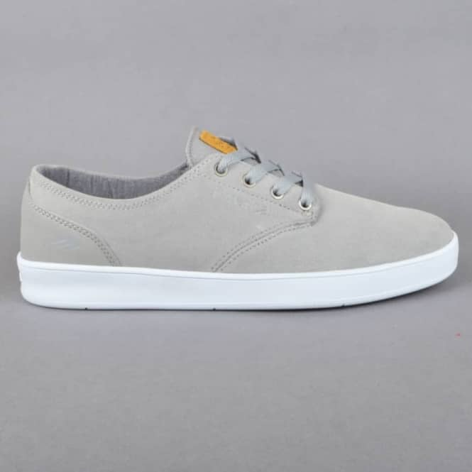 Emerica The Romero Laced Skate Shoes - Grey/White/Gum