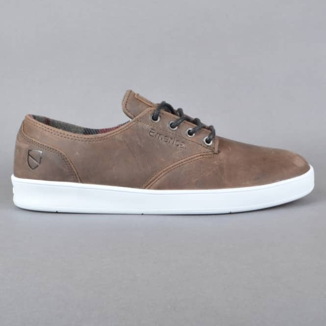 Emerica The Romero Laced x ESWIC Skate Shoes - Brown/White