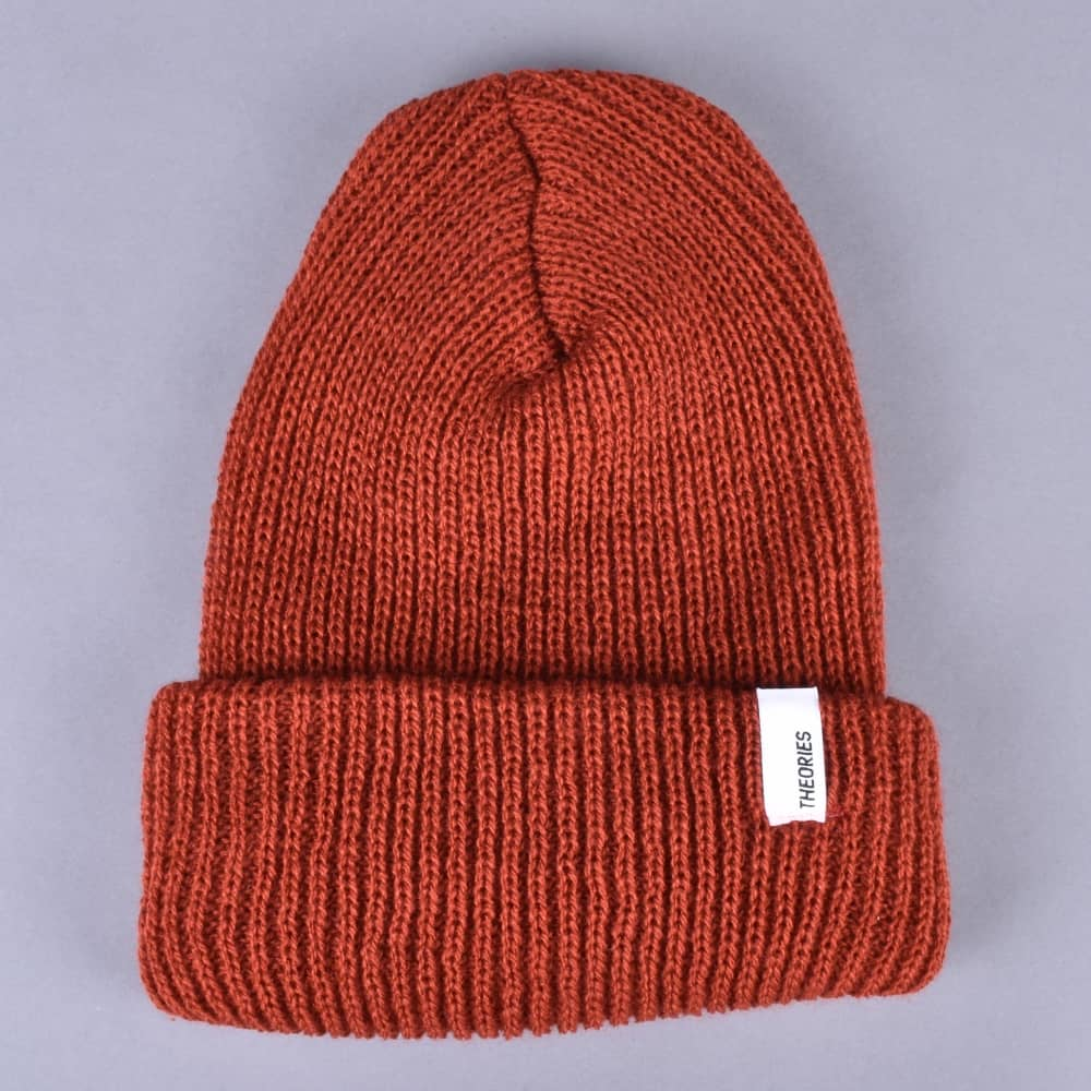 0629986701a Theories of Atlantis Beacon Beanie - Rust Red - SKATE CLOTHING from ...