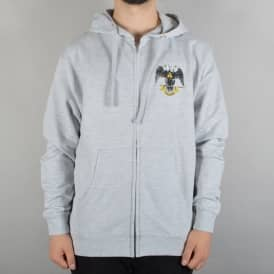 Hands of Theories Zip Hoodie - Heather Grey
