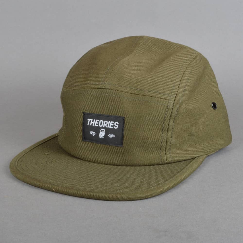 cde8f3ec Theories of Atlantis Moluch 5 Panel Cap - Olive - SKATE CLOTHING ...