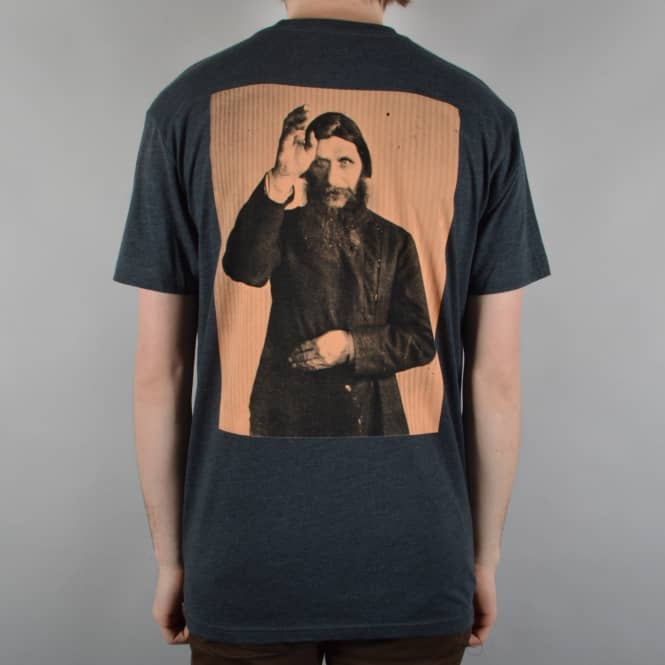 Theories of Atlantis Rasputin Skate T-Shirt - Charcoal/Peach