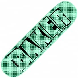 Theotis Brand Name Halftone Dipped Mint Skateboard Deck 8.125