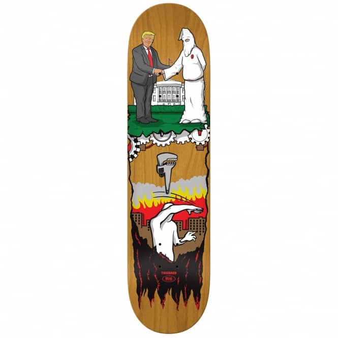 Real Skateboards Thiebaud Wrench Justice Popsicle (Brown Stain) Full Shape Skateboard Deck 8.25