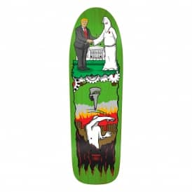 Thiebaud Wrench Justice Special Shape (Green Stain) Skateboard Deck 9.78