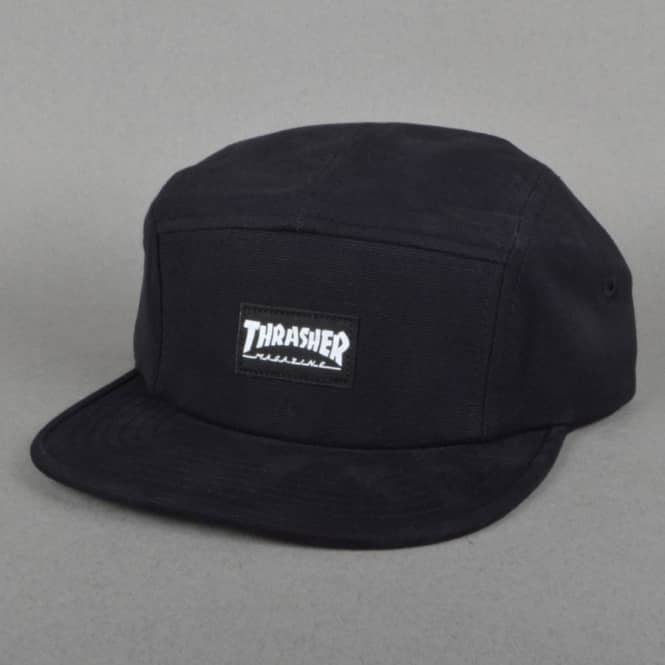 ed7bbc0b1f8 Thrasher 5 Panel Cap Black - SKATE CLOTHING from Native Skate Store UK