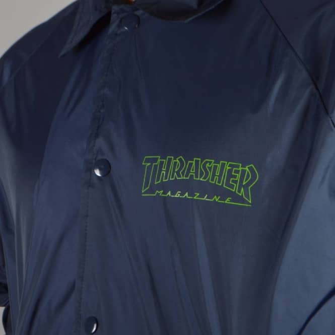 07700254c80b Thrasher Circuit Goat Coach Jacket - Navy - SKATE CLOTHING from ...