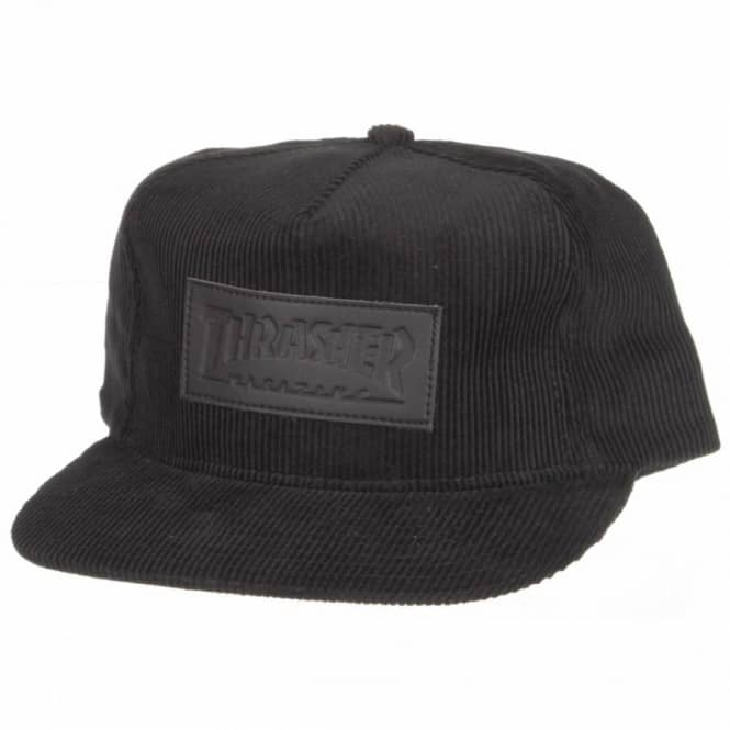 786949acbc3 Thrasher Corduroy Patch Snapback Cap - Black - Caps from Native ...