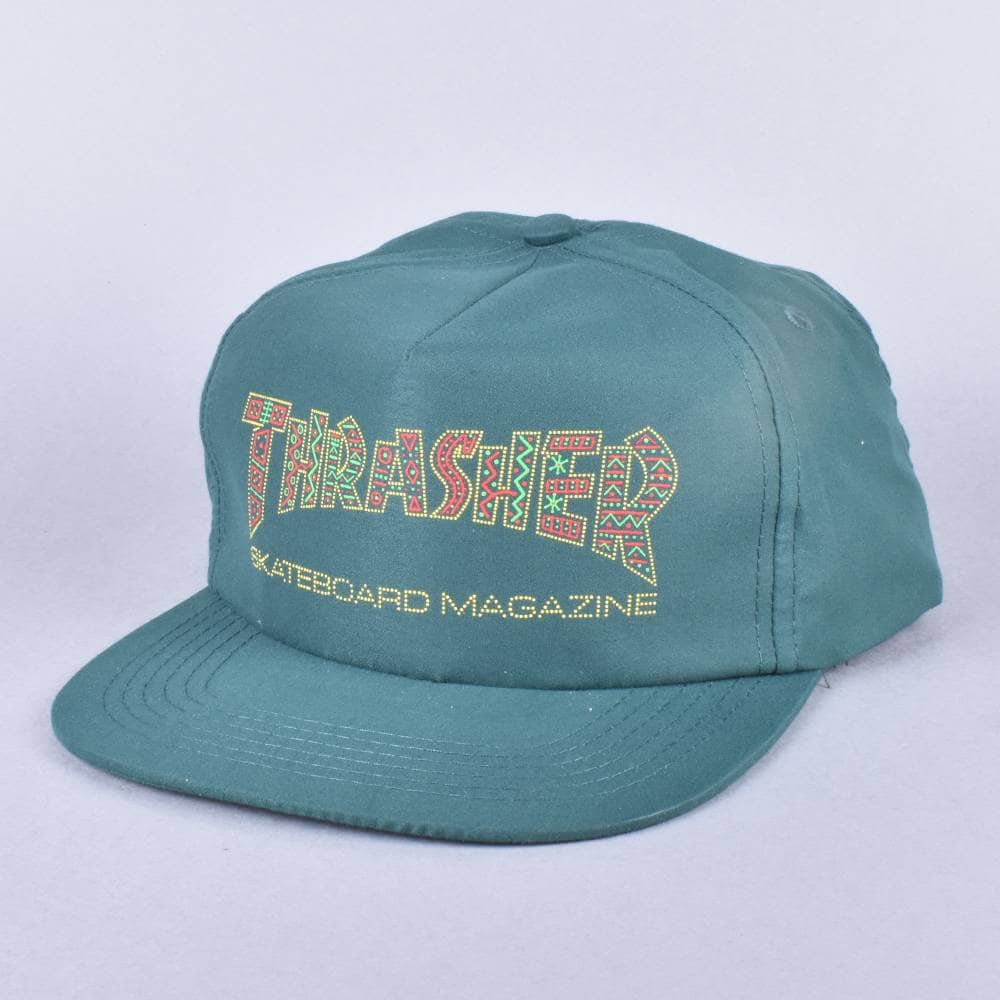 174006d00d9 Thrasher Davis Snapback Cap - Forest Green - SKATE CLOTHING from ...