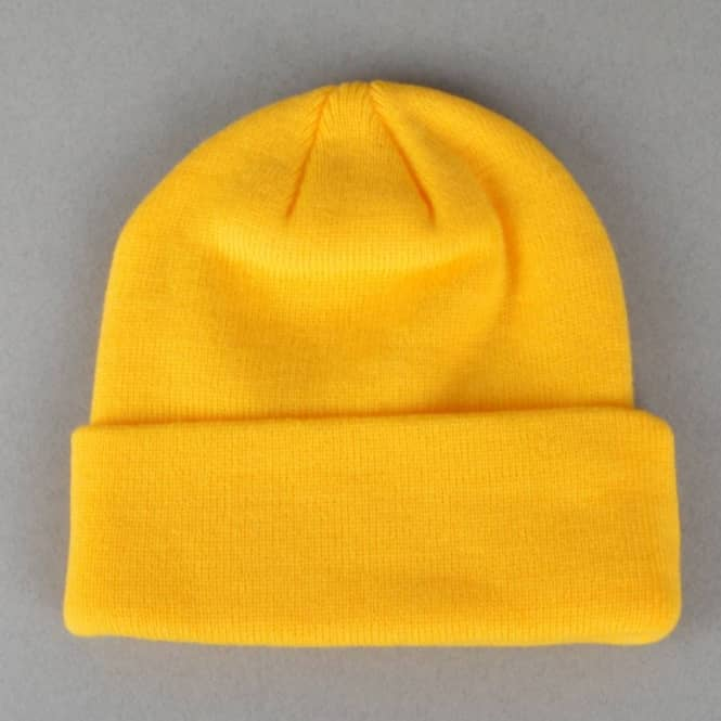Thrasher Embroidered Logo Skate Beanie - Yellow Black - SKATE ... d5e126c9081
