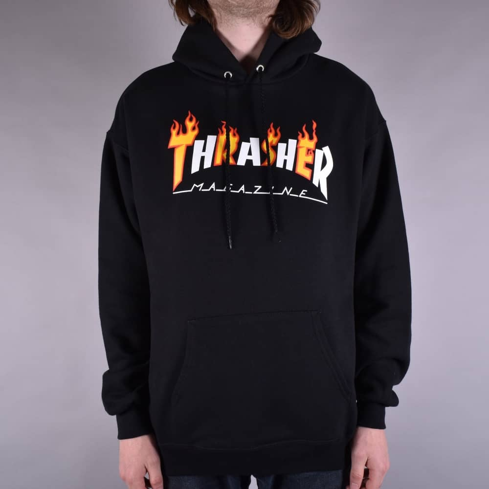 6e86f3a4bd5f Thrasher Flame Mag Pullover Hoodie - Black - SKATE CLOTHING from ...