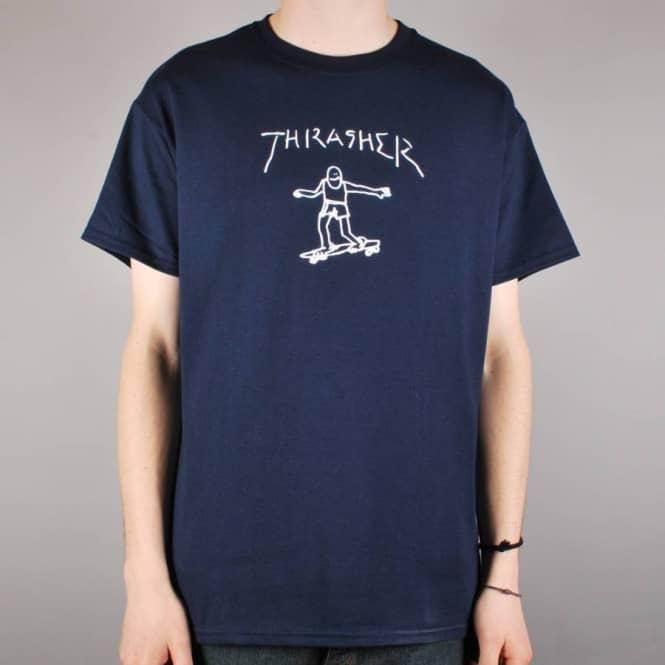 de168594 Thrasher Gonz By Mark Gonzales Skate T-Shirt - Navy - SKATE CLOTHING ...