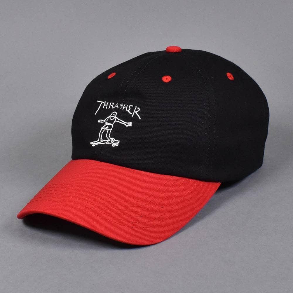 68b1fdd0c71b8 Thrasher Gonz Old Timer Dad Cap - Black Red - SKATE CLOTHING from ...