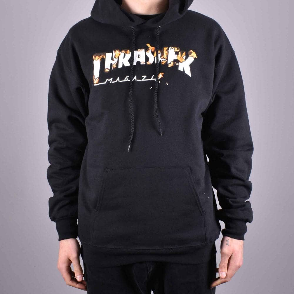 Thrasher Intro Burner Pullover Hoodie Black
