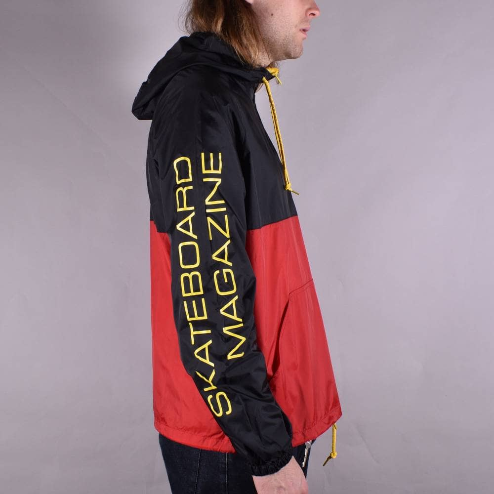1eea943e2d1f Thrasher Mag Logo Anorak Jacket - Black Red - SKATE CLOTHING from ...