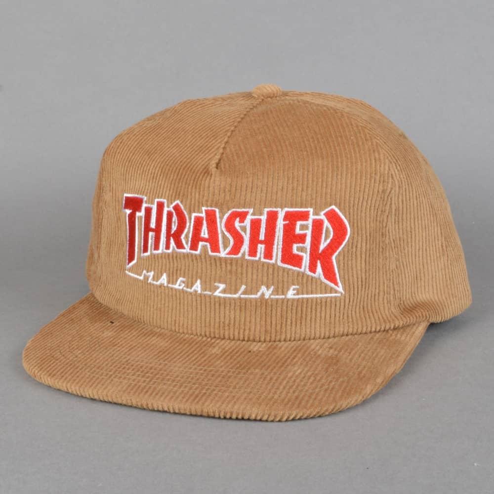 7fa02683dc52ef Thrasher Magazine Logo Corduroy Snapback Cap - Gold - SKATE CLOTHING ...