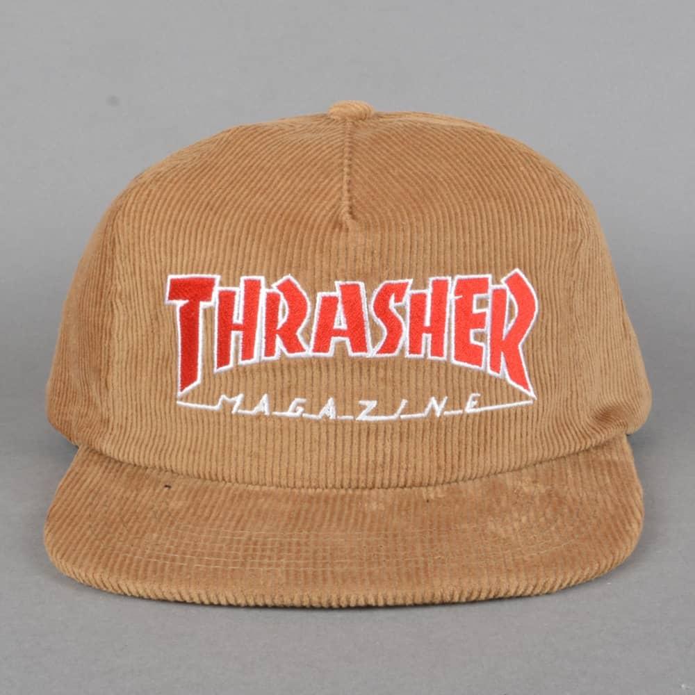 d0c52df17d86 Thrasher Magazine Logo Corduroy Snapback Cap - Gold - SKATE CLOTHING ...