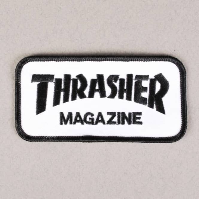 Thrasher Thrasher Magazine Logo Patch - White