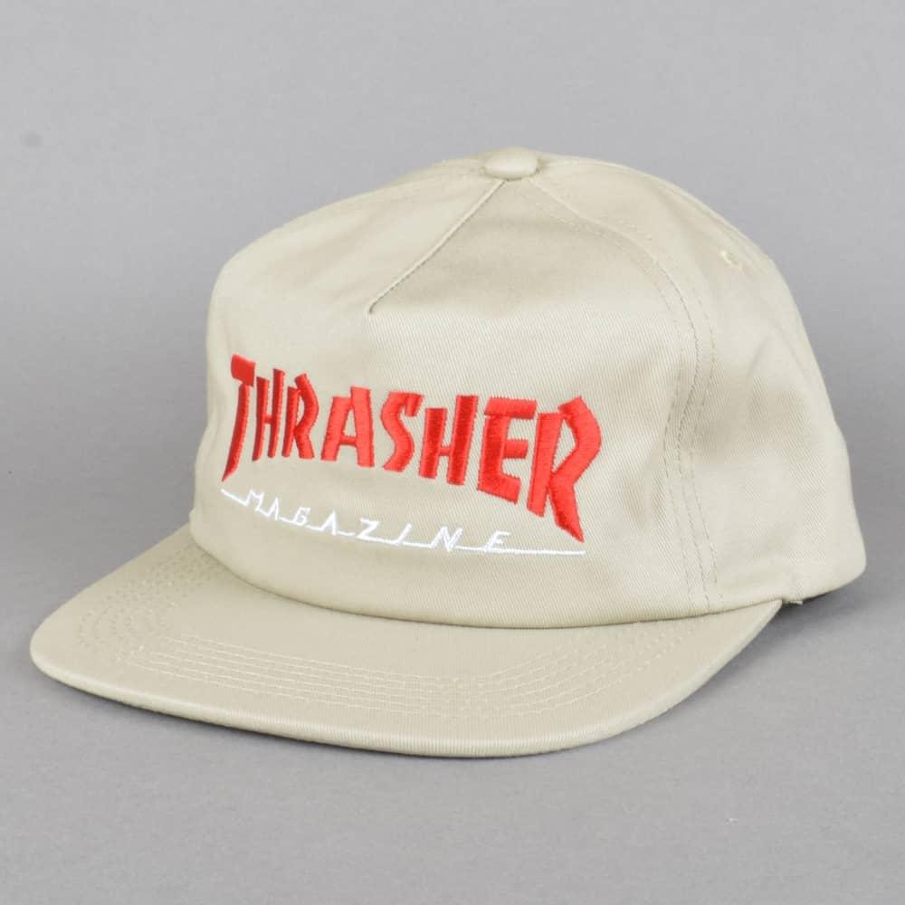 2241d9c257e Thrasher Magazine Logo Two Tone Cap - Tan - SKATE CLOTHING from ...