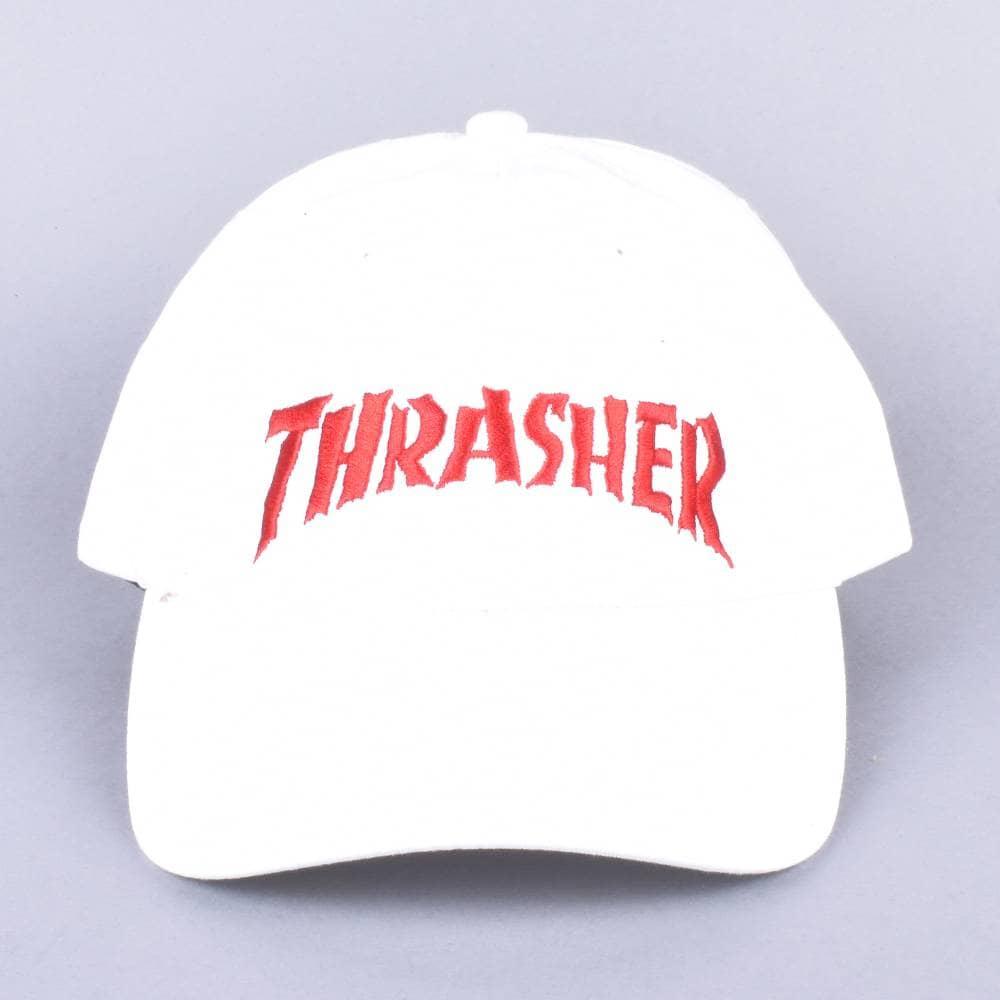 b2e6876954c Thrasher Neckface Invert Old Timer Dap Cap - White - SKATE CLOTHING ...