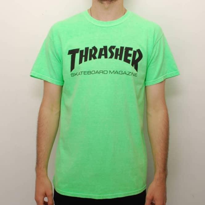 52e11f46e710 Thrasher Neon Skate Mag Logo T-Shirt - Neon Green - Skate T-Shirts ...