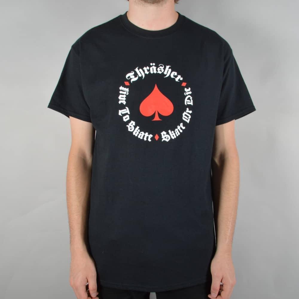 40d4b3fed1f9 Thrasher New Oath Skate T-Shirt - Black - SKATE CLOTHING from Native ...
