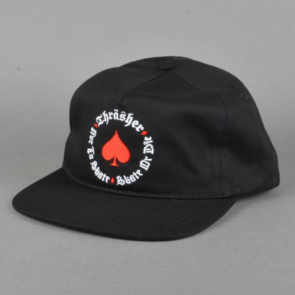 c6d3089f0 Thrasher Oath Snapback Cap - Black