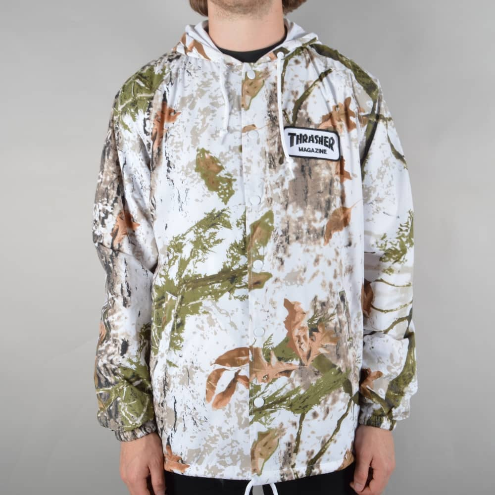 1e31232d22dc Thrasher Patch Coach Jacket - Snow Camo - SKATE CLOTHING from Native ...