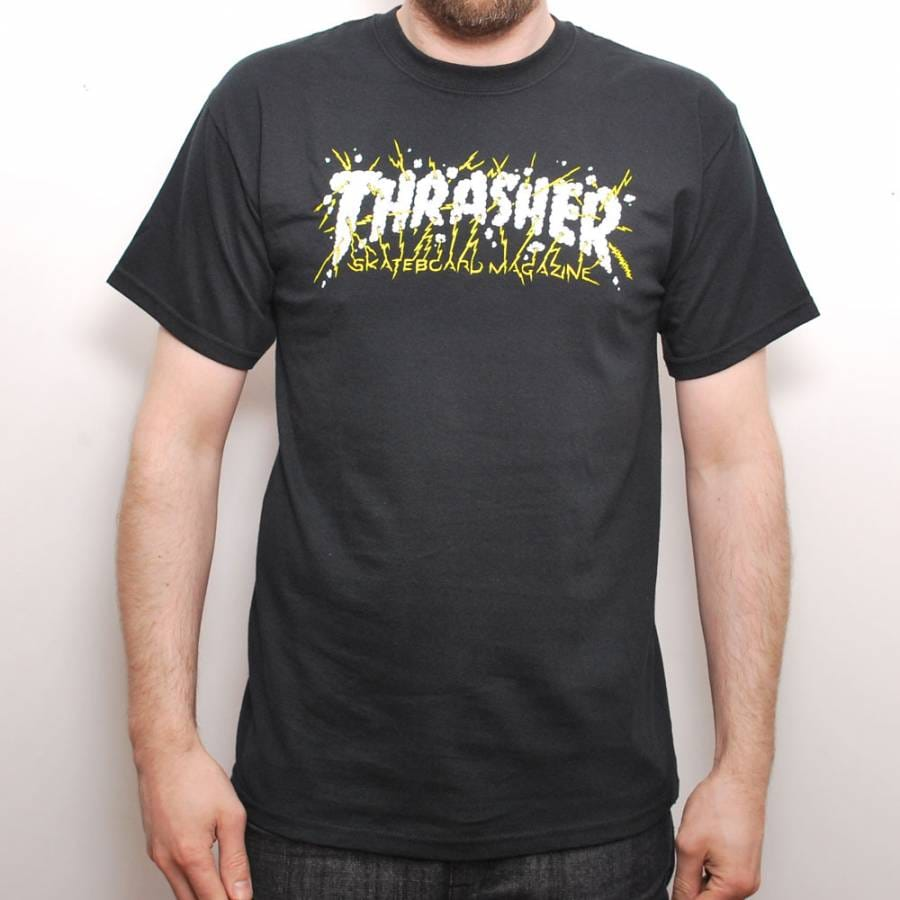 Thrasher perfect storm skate t shirt black for Perfect black t shirt