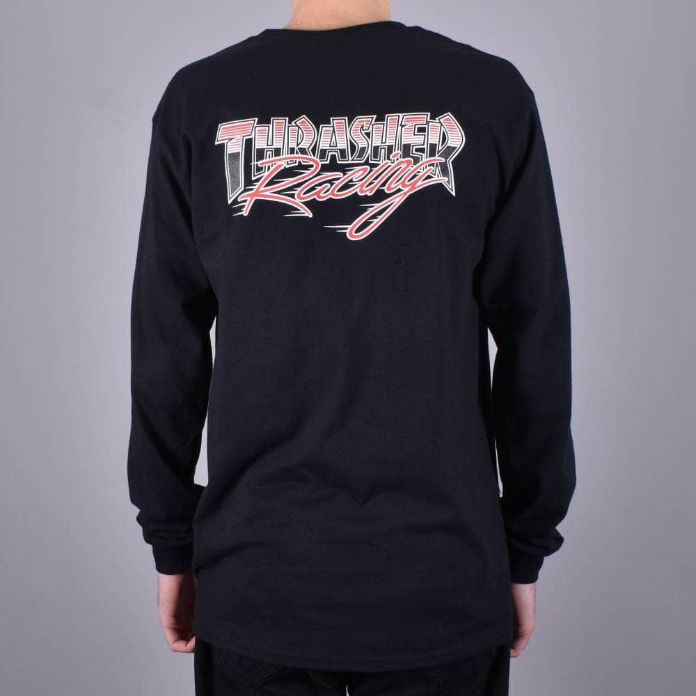 ba18982ab8c Thrasher Racing Long Sleeve Skate T-Shirt - Black - SKATE CLOTHING ...