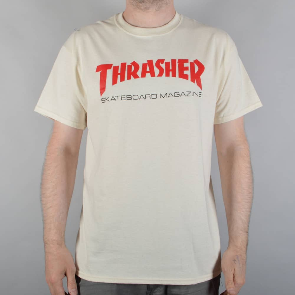 1c1ce13e925f Thrasher Resurrection Skate T-Shirt - Natural - SKATE CLOTHING from ...
