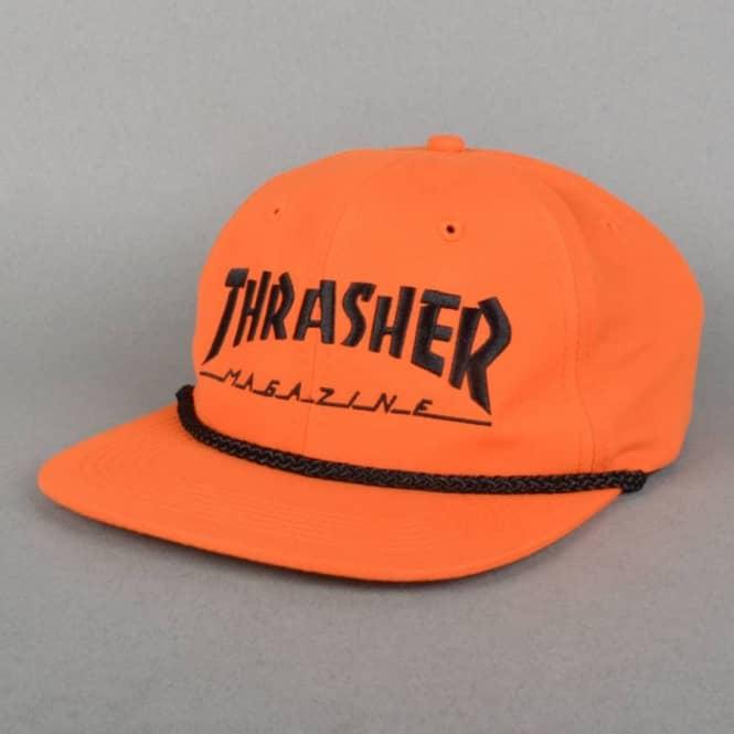 e633cdcb9a024 Thrasher Rope Snapback Cap - Orange Black - Caps from Native Skate ...