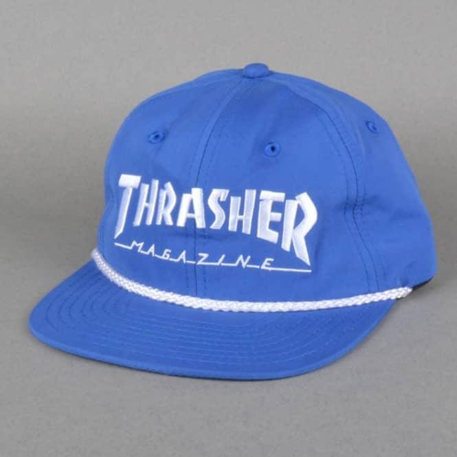 Thrasher Rope Snapback Cap - Royal White - SKATE CLOTHING from ... 1edebbc4667
